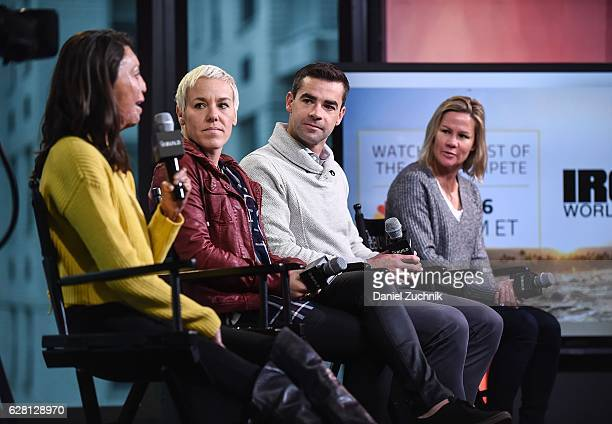 Turia Pitt Heather Jackson Tim O'Donnell and Mirinda Carfrae attend AOL Build to discuss the new show ''Ironman World Championship' at AOL HQ on...