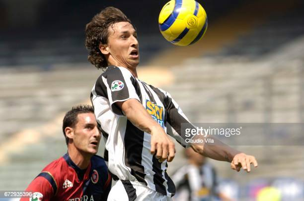 Zlatan Ibrahimovic in action during the Serie A 38th round match between Juventus of Turin vs Cagliari played at the 'Delle Alpi' stadium in Turin