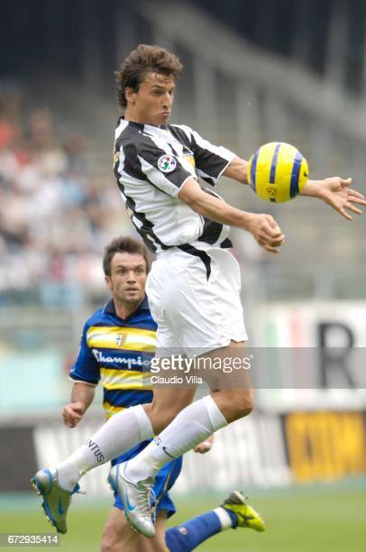 Zlatan Ibrahimovic of Juventus in action during the Serie A 36th round match between Juventus of Turin vs Parma played at the 'Delle Alpi' stadium in...