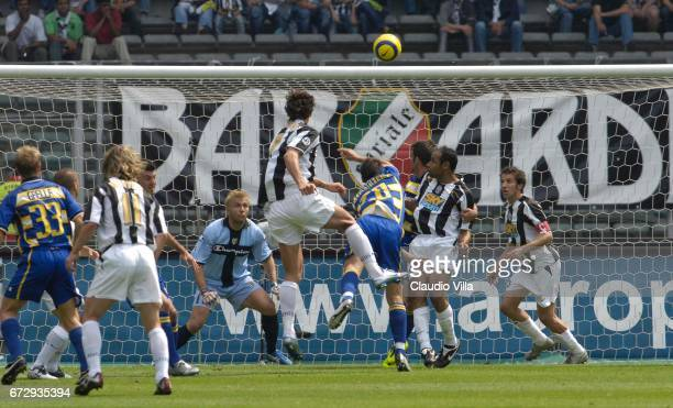 Zlatan Ibrahimovic of Juventus scores the goal during the Serie A 36th round match between Juventus of Turin vs Parma played at the 'Delle Alpi'...