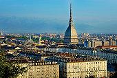 Turin, cityscape with the Mole Antonelliana