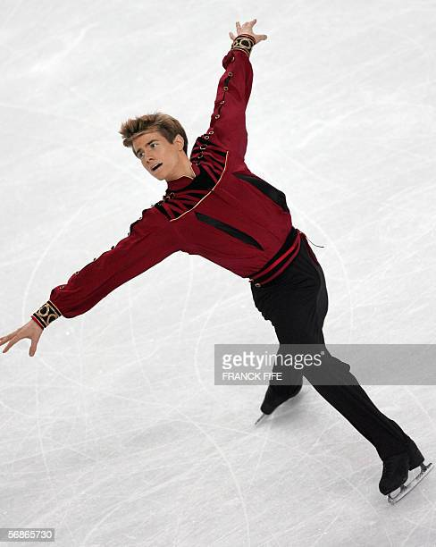 Canada's Jeffrey Buttle performs in the Men's Free Skating program during the Figure skating competition at the 2006 Winter Olympics 16 February 2006...
