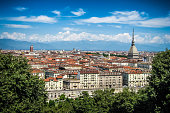 View of Turin city center