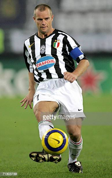 Picture taken 27 September 2005 shows Gianluca Pessotto of Juventus playing during UEFA Champions League match between Juventus and Rapid vienna at...