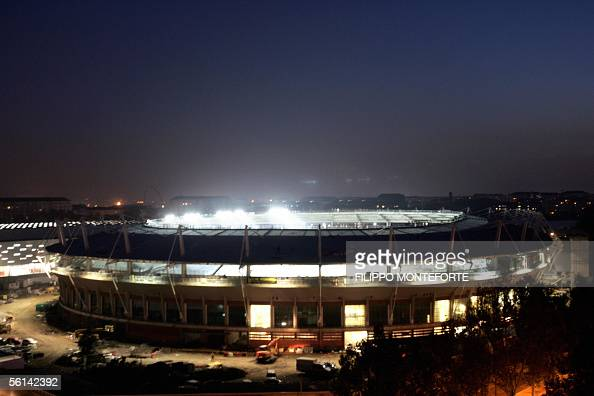 The renovqted Stadio Comunale where the Torino 2006 Winter Olympic Games Opening Ceremony will take place gleams 11 November 2005 AFP PHOTO / Filippo...