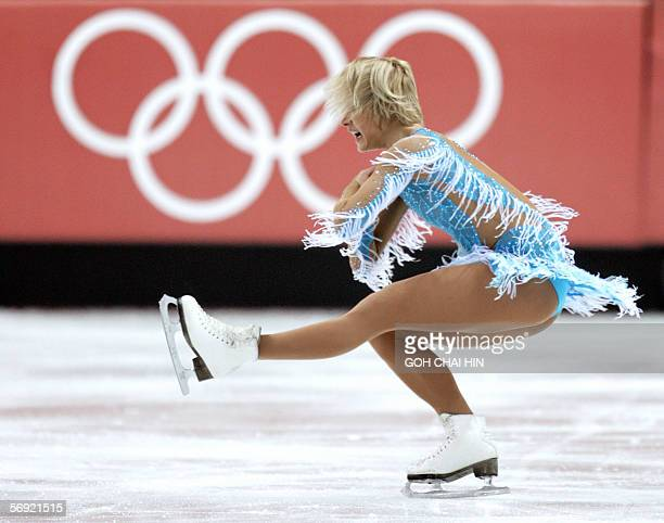 Urkaine's Galina Efremenko performs in the ladies free skating program during the Figure skating competition at the 2006 Winter Olympics 23 February...