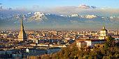 Turin (Torino), Mole Antonelliana and Alps