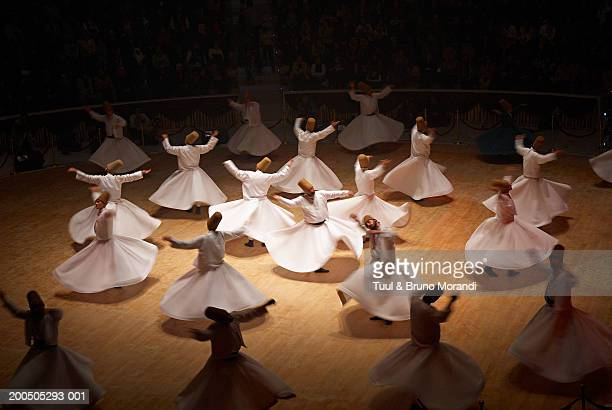 Turkey, Anatolia, Konya, Whirling Dervishes (blurred motion)
