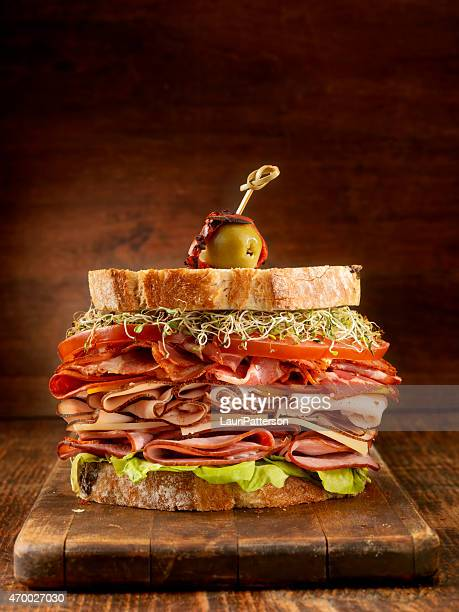 Turkey and Ham Deli Sandwich