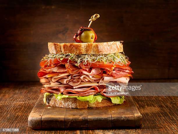 Turkey and Ham Deli Sandwich