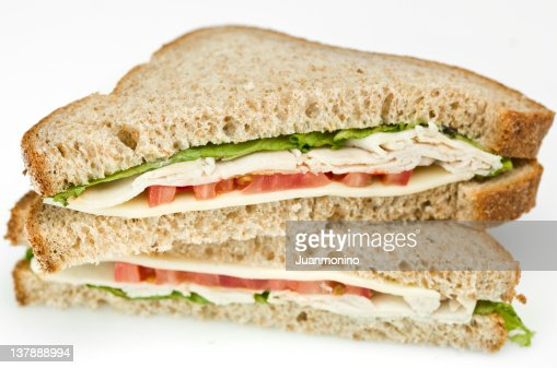 Turkey And Swiss Cheese Sandwich Stock Photo | Getty Images