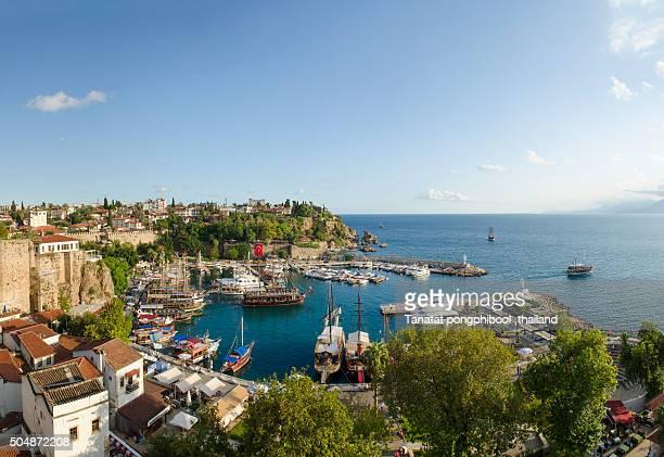 Turkey, Antalya, Old town and harbor