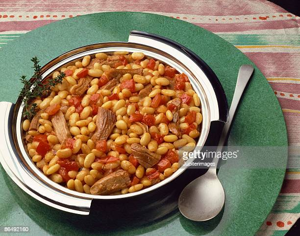 Turkey , bean , and tomato cassoulet