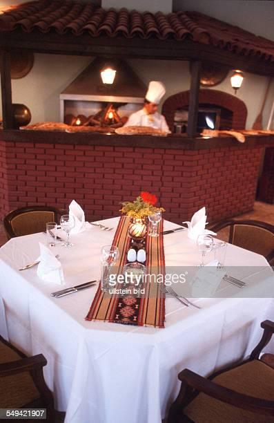 TUR Turkey Belek 092002 Sirene Golf Hotel The hotel s restaurant a layed table