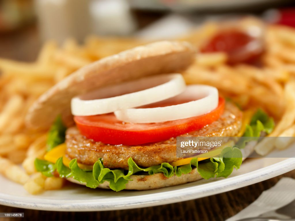 Turkey Burger : Stock Photo