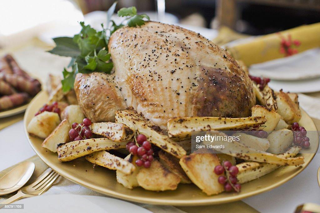 Turkey dinner : Stock Photo