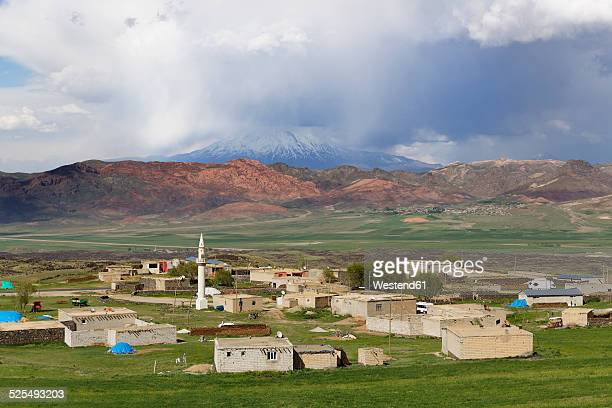 Turkey, Eastern Anatolia, Agri province, Dogubeyazit, Village, Mount Ararat in the background