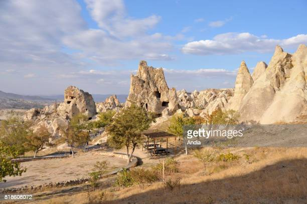Turkey Goreme OpenAir Museum with churches carved out from stone and troglodyte dwellings