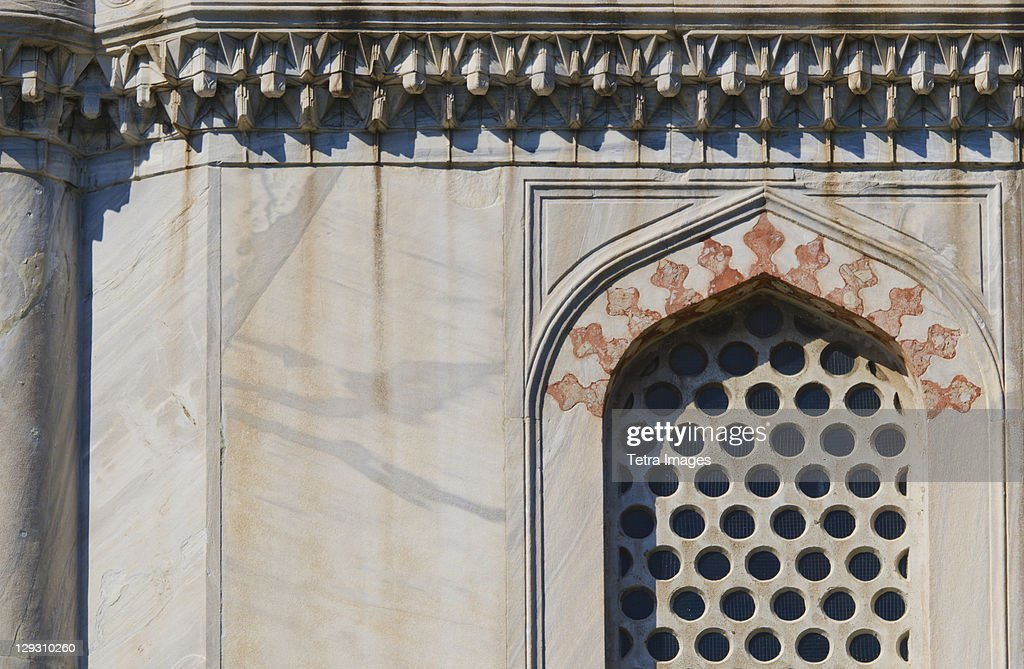 Turkey, Istanbul, Haghia Sophia window detail : Stock Photo
