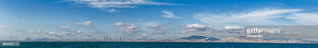 Turkey, Istanbul, panoramic view to the city from Sea of Marmara