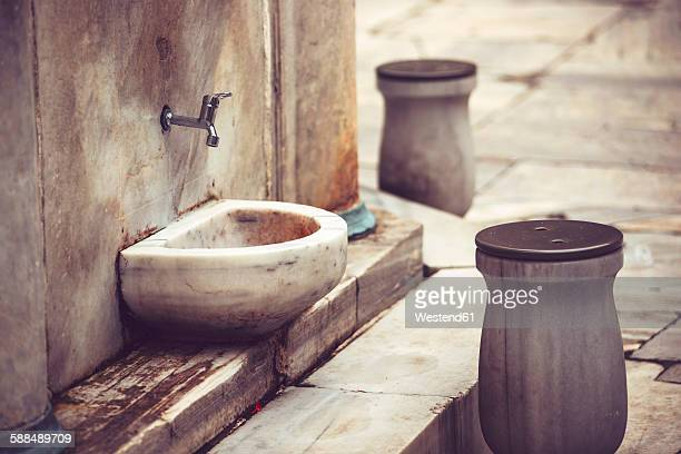 Turkey, Istanbul, place for washing the feet at a mosque