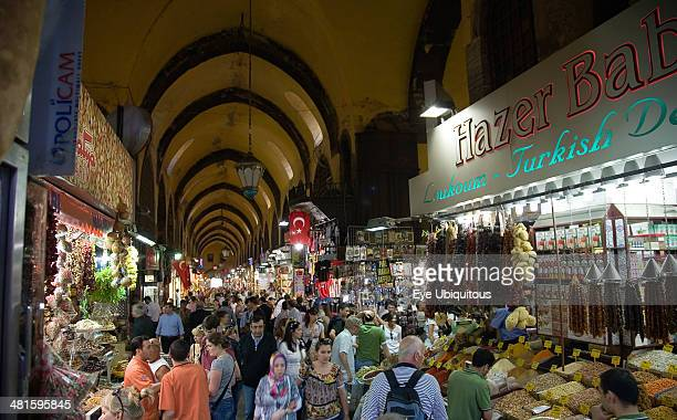 Turkey Istanbul Sultanahmet The Spice Bazaar or Egyptian Bazaar one of the oldest bazaars in the city and the second largest covered shopping complex...
