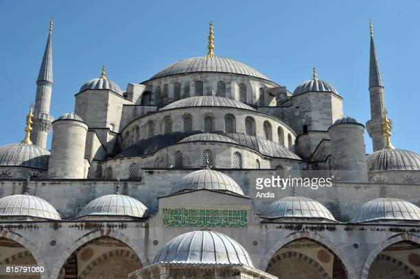Istanbul The Sultan Ahmed Mosque or Sultan Ahmet Mosque also known as the Blue Mosque in the cultural capital city of the country registered as a...