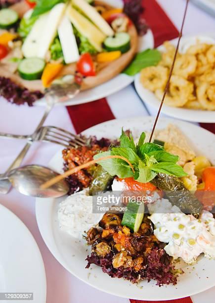 Turkey, Istanbul, Turkish meze appetizers