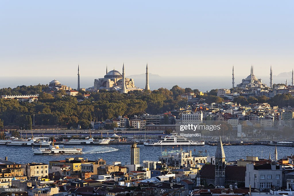 Sophia Horn Measurements: Turkey Istanbul View From Beyoglu Over Golden Horn With