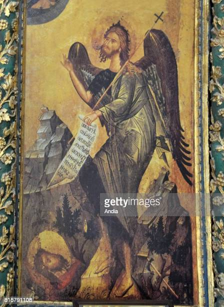 Konya Icon of a winged archangel in St Helen's Church in the old Greek village of Sille District built in 327 for the empress Helena mother of the...