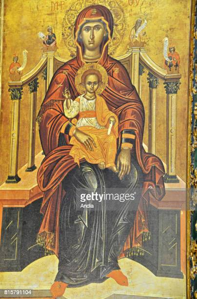 Konya Icon of the Madonna in St Helen's Church in the old Greek village of Sille District built in 327 for the empress Helena mother of the Emperor...