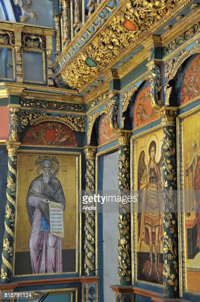 Konya Icons gildings and illuminations in St Helen's Church in the old Greek village of Sille District built in 327 for the empress Helena mother of...