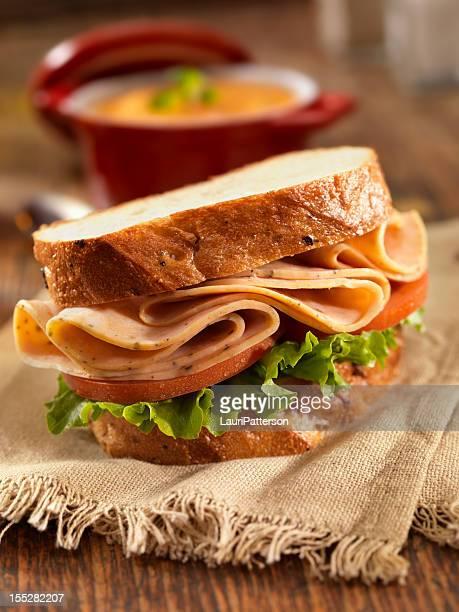 Turkey Sandwich and Tomato Soup