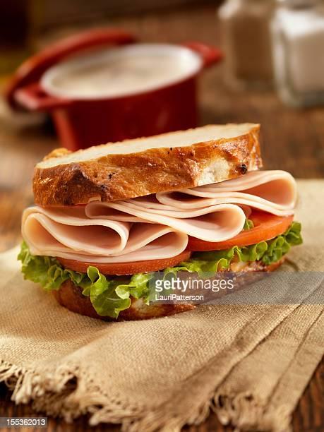 トルコサンドイッチ、キノコのスープ