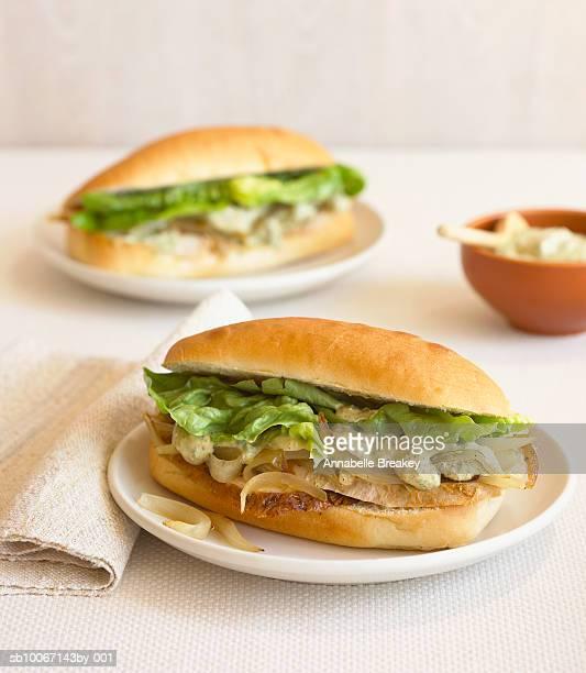 Turkey sandwiches with mayonnaise charmoula