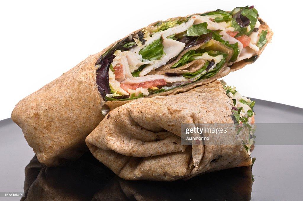 Turkey wrap sandwich