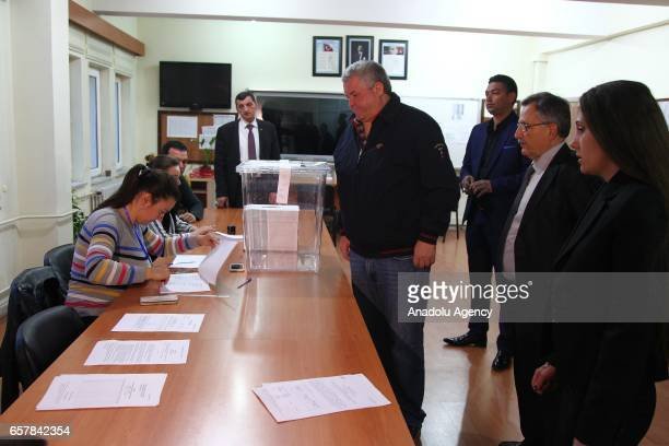 Turkeybased Bulgarian citizens vote during the Bulgarian Parliamentary Election at the The Union of Chambers and Commodity Exchanges of Turkey High...
