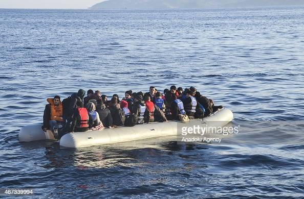 Turkey's Coast Guard captures 13 Iraqi 109 Syrian illegal migrants who were trying to illegally reach Europe on fishing boats in Cesme district of...