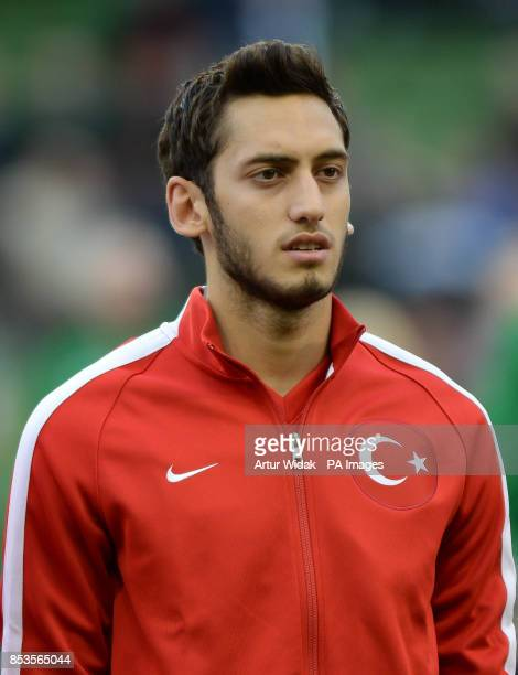 Turkey's Hakan Calhanoglu before the International Friendly match at The Aviva Stadium Dublin Ireland PRESS ASSOCIATION Photo Picture date Sunday May...