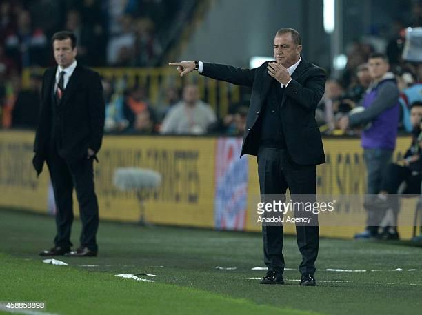 Turkey's head coach Fatih Terim reacts during the international friendly match between Turkey and Brazil at Fenerbahce Sukru Saracoglu Stadium in...