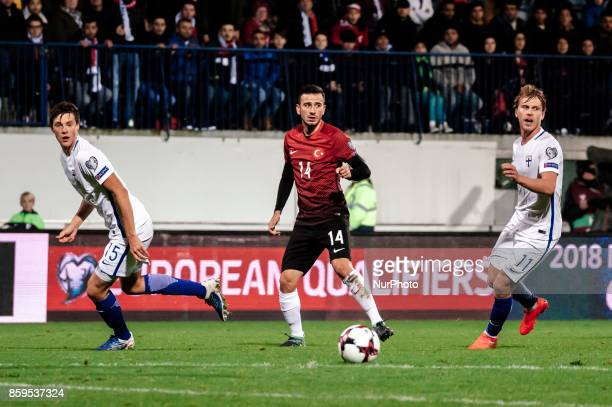 Turkey's Oguzhan Özyakup during the FIFA World Cup 2018 qualification football match between Finland and Turkey in Turku Finland on October 9 2017
