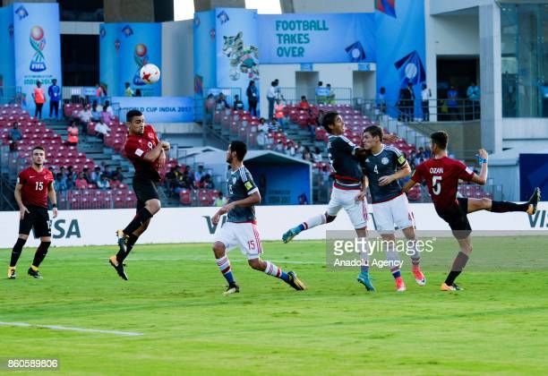 Turkey's player Kerem Kesgin duels for the ball against Paraguay's Luis Zarate during the FIFA U17 World Cup match between Turkey and Paraguay in...