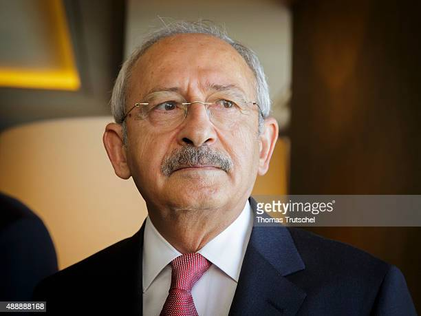 Turkey's Republican People's Party leader Kemal Kilicdaroglu on September 18 2015 in Ankara Turkey