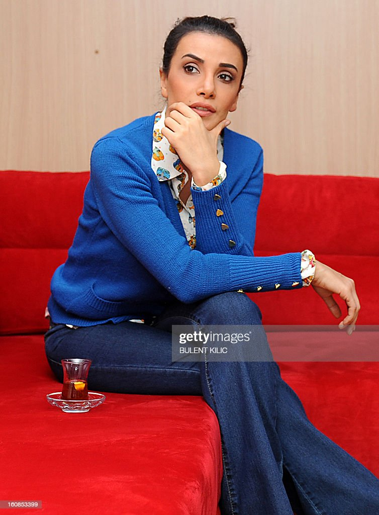 Turkish actress Songul Oden poses during an interview on February 6, 2013, in Istanbul. Oden played in ''Gumus'' (Silver), a popular Turkisk TV drama, launched in 2005 and whose final episod was watched by over 85 million people from Morocco to Syria.