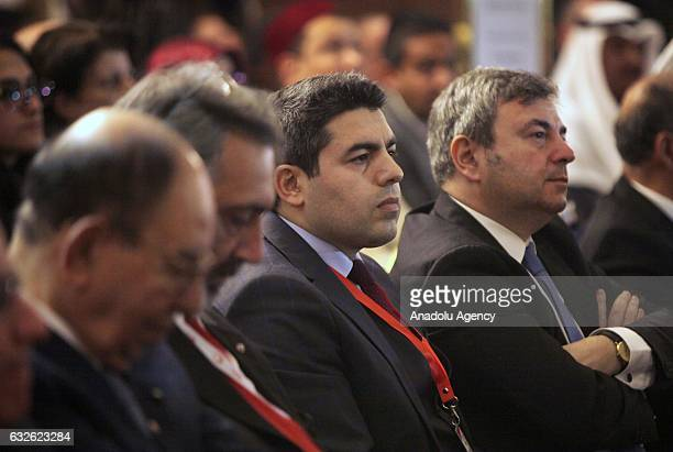 Turkish Ambassador to Amman Murat Karagoz and General Vice President of the Turkish Red Crescent Naci Yorulmaz attend the 9th Executive committee of...