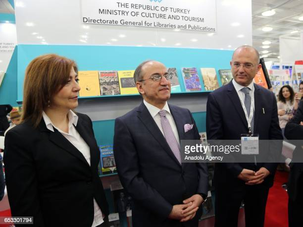 Turkish Ambassador to London Abdurrahman Bilgic and Turkish Culture and Tourism Ministry's Director General for Libraries and Publications Sedat...