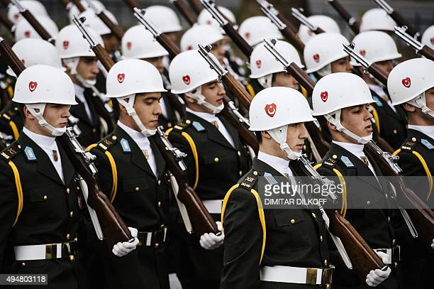 Turkish Army soldiers march during a Republic Day ceremony in Istanbul on October 29 2015 to mark the 92nd anniversary of the countrys founding AFP...