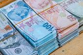 turkish banknote money