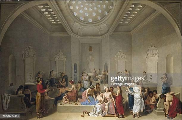 Turkish Bath 1785 Private Collection Artist Le Barbier JeanJacquesFrançois