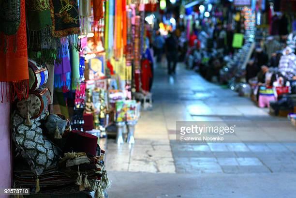 Turkish bazaar at the evening